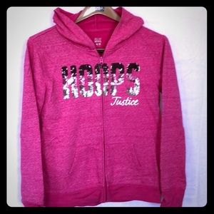 Justice brand pink hoodie size girls 16/18